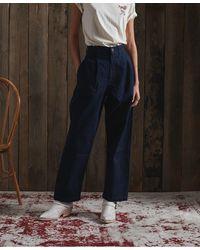 Superdry DRY Pantalon plissé Dry en Édition Limitée - Bleu