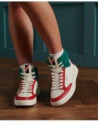 Superdry Premium Basket Lux Trainers - White