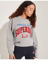 Superdry Sweat à manches chauve-souris Varsity Arch - Gris