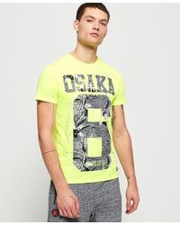 Superdry Osaka Hibiscus Infill T-shirt - Yellow