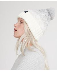 Superdry Clarrie Cable Beanie - Grey