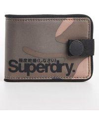 Superdry Tarp One Popper Wallet - Green