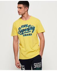 Superdry Ticket Type Oversized Fit T-shirt - Yellow