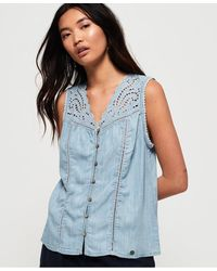 Superdry - Robyn Sleeveless Shirt - Lyst