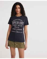 Superdry Workwear T-shirt - Blue