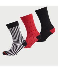 Superdry Pack de tres pares de calcetines City de algodón orgánico - Negro
