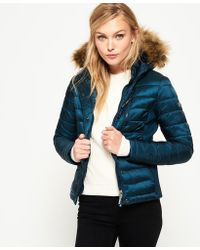 Superdry - Luxe Fuji Double Zip Hooded Jacket - Lyst