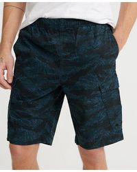 Superdry Worldwide Cargo Shorts - Blue