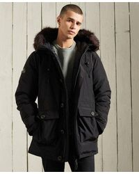 Superdry Rookie Down Parka Coat - Black