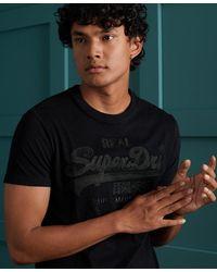 Superdry - Geborduurd T-shirt Met Vintage Logo - Lyst