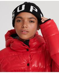 Superdry Urban Logo Beanie - Black