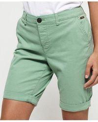 Superdry Pantalones cortos chinos City - Verde