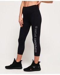 Superdry Sd Core Sport Essential Capri Leggings - Black