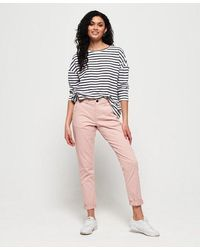 Superdry City Chino Trousers - Pink