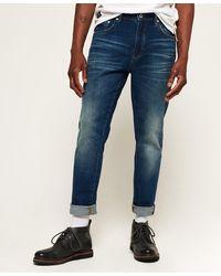 Superdry Conor Jeans Met Taps Toelopende Pijpen - Blauw