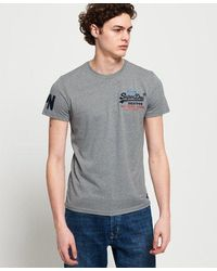 Superdry Vintage Logo Cali Fade Lite T-shirt - Grey