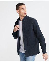Superdry Field Edition Long Sleeve Shirt - Blue