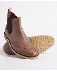 Superdry Brad Brogue Chelsea Boot - Brown