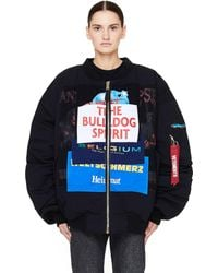 Vetements - Oversized Patchwork Shell And Jersey Bomber Jacket - Lyst