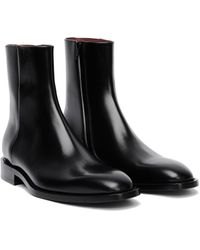 Balenciaga Black Leather Chrystal Boots