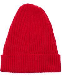 Maison Margiela Красная Шерстяная Шапка - Красный