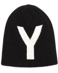 Y's Yohji Yamamoto - Reversible Wool Knit Hat - Lyst
