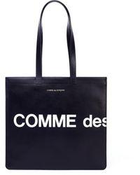 Comme des Garçons Черная Кожаная Сумка С Логотипом - Черный