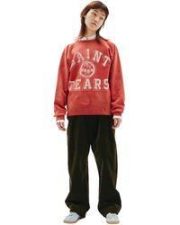 Saint Michael Distressed Saint Tears Sweatshirt - Red