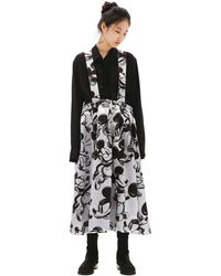 Comme des Garçons Mickey Mouse Printed Skirt - Grey