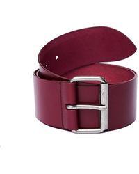 Ann Demeulemeester Burgundy Leather Belt - Purple
