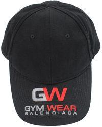 Balenciaga Черная Кепка С Вышивкой Gym Wear - Черный