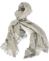 Faliero Sarti - Wool, Polyester And Nylon Scarf - Lyst