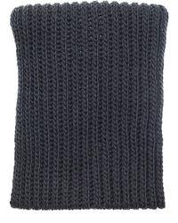 Yohji Yamamoto Gray Wool Snood Scarf