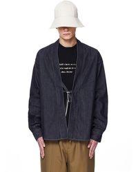 Visvim Lhamo Denim Kimono Shirt - Gray