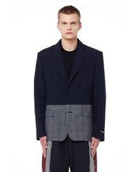 Vetements Wool & Linen Jacket - Синий