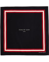 Fear Of God Silk And Cotton Blend Logo Bandana - Black