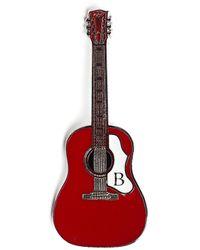 Yohji Yamamoto Guitar Brooch - Red