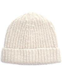 Maison Margiela Off-white Wool Beanie - Natural