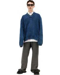 Maison Margiela V-neck Sweater - Blue