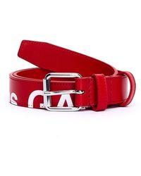 Comme des Garçons Красный Кожаный Ремень С Логотипом