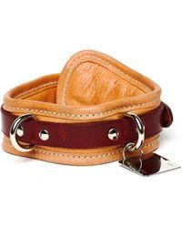 Guidi Beige Dog-collar - Multicolour
