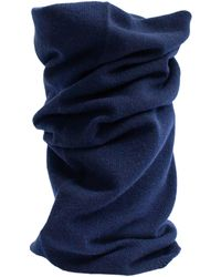 Yohji Yamamoto Темно-синий Шарф-снуд С Вышивкой