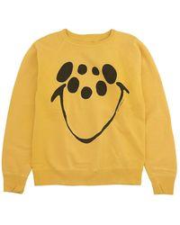 Saint Michael Smile Printed Sweatshirt - Yellow