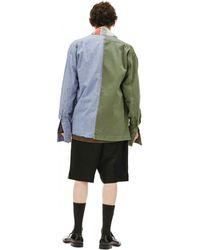 Greg Lauren Хлопковая Рубашка 50/50 - Многоцветный