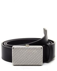 Balenciaga Purse Buckle Leather Belt - Black