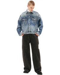 Balenciaga Джинсовая Куртка C Принтом All Over Logo - Синий