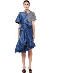 Junya Watanabe Платье С Джинсовой Драпировкой - Синий