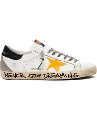 Golden Goose Deluxe Brand White Leather Superstar Trainers - Multicolour