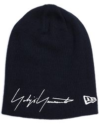 Yohji Yamamoto Темно-синяя Шапка New Era - Черный