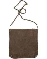 Guidi - Cross-body Suede Bag - Lyst